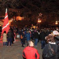Πλήθος κόσμου στο άναμμα του Χριστουγεννιάτικου δέντρου της Αιανής – Δείτε βίντεο και φωτογραφίες
