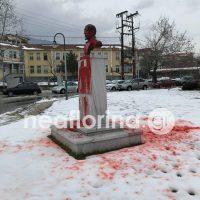 Συνελήφθη ο άντρας που έριξε κόκκινη μπογιά στο άγαλμα του Βενιζέλου στη Φλώρινα – Τι βρέθηκε στην κατοχή του