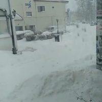 Πολύ χιόνι και στο Τρανόβαλτο Κοζάνης – Δείτε το βίντεο