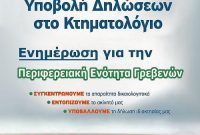 Ενημερωτική εκδήλωση για το κτηματολόγιο από τον Σύλλογο Γρεβενιωτών Κοζάνης
