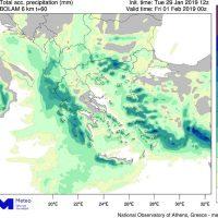 Καιρός: Διαδοχικά κύματα βροχοπτώσεων έως και την Πέμπτη 31 Ιανουαρίου
