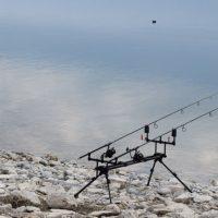 Διεξαγωγή αθλητικού αγώνα αλιείας κυπρίνουστη λίμνη Πολυφύτου