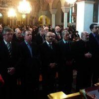 Τελέστηκε η επίσημη δοξολογία για την πρώτη του έτους στον Ι.Ν. Αγίας Τριάδας στην Πτολεμαΐδα και δεξίωση του Δημάρχου Εορδαίας
