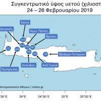 Στην Κρήτη έσπασε το πανευρωπαϊκό ρεκόρ μηνιαίας βροχόπτωσης σε κατοικημένη περιοχή