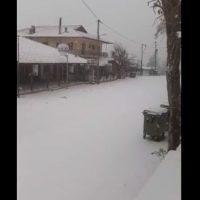 Χιονίζει στα ορεινά της Κοζάνης – Στα λευκά η Ζωοδόχος Πηγή – Δείτε το βίντεο