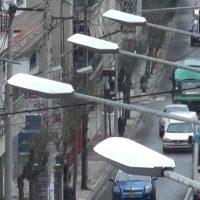 Ασθενής χιονόπτωση με 1°C στην πόλη της Κοζάνης – Δείτε το βίντεο
