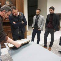 Επίσκεψη του Περικλή Αλειφέρη και αντιπροσωπείας υποψηφίων δημοτικών συμβούλων στην Κοβεντάρειο Δημοτική Βιβλιοθήκη