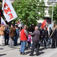 Συλλαλητήριο του ΣΕΕΕΝ στην Πτολεμαΐδα για τα εργασιακά δικαιώματα των εργαζομένων στην ΔΕΗ