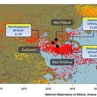 Πως κατέγραψε ο δορυφόρος την υπερκυτταρρική καταιγίδα της Τετάρτης στη Χαλκιδική