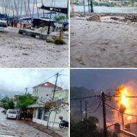 «Σφυροκόπημα» του καιρού σε Ιόνιο και Δυτική Ελλάδα: Δύο νεκροί από κεραυνούς σε Ηλεία και Μεσσηνία – Δείτε τα βίντεο
