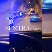Σοβαρό τροχαίο ατύχημα στην Εγνατία Οδό, στη μεγάλη σήραγγα Βερμίου – Δείτε το βίντεο