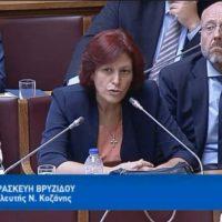 Τοποθέτηση της Παρασκευής Βρυζίδου για τη δυνατότητα μείωσης της ανεργίας, μέσα από την υλοποίηση νέων Επενδύσεων