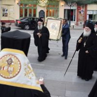 Η Εικόνα της Παναγίας της Βηματάρισσας από τη Μονή Βατοπεδίου στην Κοζάνη παρουσία του Αρχιμανδρίτη Εφραίμ – Δείτε βίντεο και φωτογραφίες