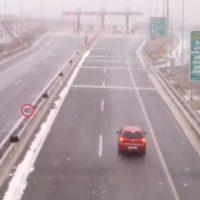 Κακοκαιρία «Ηφαιστίων» στην Κοζάνη: Δείτε βίντεο με την κατάσταση στα διόδια του Πολυμύλου στην Εγνατία Οδό
