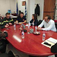 Συναντήσεις της Καλλιόπης Βέττα με την Διοίκηση της Πυροσβεστικής Ακαδημίας της Πτολεμαΐδας και με εργαζομένους του ΟΤΕ