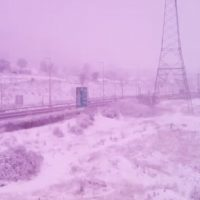Έντονη χιονόπτωση στα διόδια του Πολυμύλου – Δείτε το βίντεο