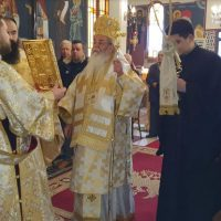 Με Αρχιερατική Θεία Λειτουργία και τη συμμετοχή πολλών πιστών πανηγύρισε  το Παρεκκλήσι του Αγίου Βαραδάτου του Κουβουκλιώτη