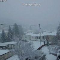 Στα λευκά έχουν ντυθεί τα ορεινά της Κοζάνης – Το έστρωσε στα περισσότερα ορεινά της Δυτικής Μακεδονίας – Δείτε φωτογραφίες