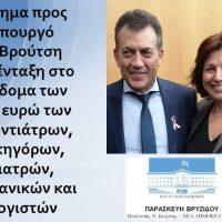 Αίτημα της Π. Βρυζίδου για ένταξη στο επίδομα των 800 ευρώ των Οδοντιάτρων, Δικηγόρων, Γιατρών, Μηχανικών και Λογιστών