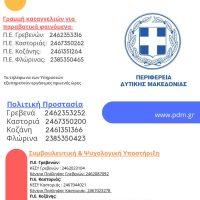 Ανοιχτή Γραμμή Πολιτών για την αποφυγή διάδοσης του κορονοϊού από την Περιφέρεια Δυτικής Μακεδονίας