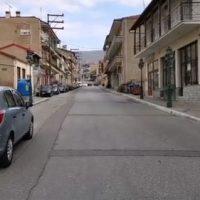 Βίντεο: Μειωμένη η κίνηση στους δρόμους της Σιάτιστας μετά το πρώτο κρούσμα κορονοϊού στην περιοχή