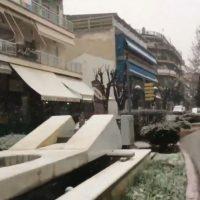 Χιονόπτωση στην πόλη της Πτολεμαΐδας – Δείτε το βίντεο