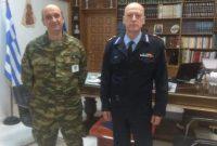 Εθιμοτυπική επίσκεψη του Διοικητή της Πυροσβεστικής Διοίκησης Δυτικής Μακεδονίας στον Διοικητή της 9ης Μ/Π Ταξιαρχίας Ταξίαρχο Ζαχαρία Ψύρρα