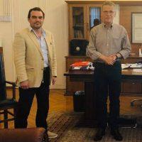 Συνάντηση εργασίας του Δημάρχου Κοζάνης Λάζαρου Μαλούτα με τον Πρόεδρο της Κοζάνης Αλέξανδρο Αδαμίδη