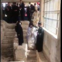 Γιορτή της Πεντηκοστής στα Ιεροσόλυμα στο σημείο που έγινε η Πεντηκοστή στο λόφο της Σιών