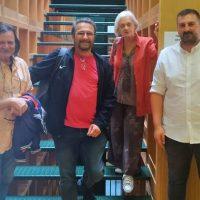 Την Κοβεντάρειο Δημοτική Βιβλιοθήκη Κοζάνης επισκέφτηκε η σκηνοθέτιδα Νανά Νικολάου και εκπρόσωποι του Δήμου Θεσσαλονίκης και του Βαφοπούλειου Ιδρύματος – Δημιουργία αρχείου των ημερών του κορωνοϊού