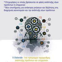 V-Xelerate: Δωρεάν εξ'αποστάσεως σεμιναριακά μαθήματα στη διαχείριση καινοτομίας, την ανάπτυξη νέων προϊόντων και την επιχειρηματικότητα