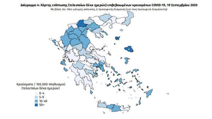 Νέα κρούσματα κορονοϊού στη Δυτική Μακεδονία το Σάββατο 19/9 – Οι περιοχές από τις οποίες προέρχονται τα 240 κρούσματα