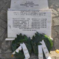 Τελέστηκε στον τόπο του μνημείου στον Περδίκκα η εκδήλωση προς τιμήν των επτά Ελασσιτών που σκοτώθηκαν στη μάχη του Περδίκκα