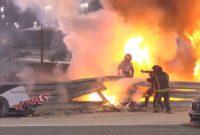 Formula 1: Σοκαριστικό ατύχημα στο γκραν πρι του Μπαχρέιν -Το μονοθέσιο του Γκροζάν κόπηκε στα δύο και άρπαξε φωτιά!