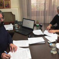 Υπογραφή σύμβασης για τη βελτίωση του εσωτερικού δικτύου ύδρευσης στον οικισμό της Νεράιδας