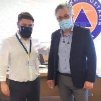 Επίσκεψη του Δημάρχου Βοΐου στην Γ.Γ. Πολιτικής Προστασίας – Τι συζητήθηκε στη συνάντηση με τον Ν. Χαρδαλιά
