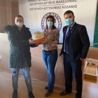 Προσφορά αθλητικού υλικού καλαθοσφαίρισης από την Αθλητική Ένωση Αστυνομικών Ελλάδος προς την Τοπική Διοίκηση Διεθνούς Ένωσης Αστυνομικών Κοζάνης
