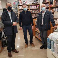 Επίσκεψη του δημάρχου Κοζάνης Λάζαρου Μαλούτα και του αντιδημάρχου Κώστα Κυριακίδη στα εμπορικά καταστήματα