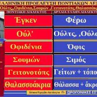 Έγκεν, Ούλτς, Οφιδένια, Σουμών, Γειτονοτόπς, Θαλασσάκρια: Ποντιακές λέξεις με Αρχαιοελληνική ρίζα – Της Δέσποινας Μιχαηλίδου Καπλάνογλου