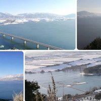 Βίντεο: Το μαγευτικό, χιονισμένο τοπίο με την υψηλή Γέφυρα Σερβίων