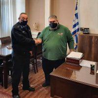 Τον Δήμαρχο Εορδαίας επισκέφθηκε ο Διοικητής της Πυροσβεστικής Διοίκησης Δυτικής Μακεδονίας Αρχιπύραρχος Σ. Κορέλας