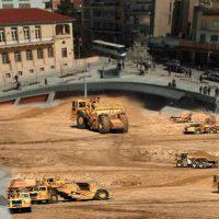 Εργασίες μπαζώματος του βαθουλώματος της Κοζάνης: Η χιουμοριστική φωτογραφία του Γιάννη Σιδέρη