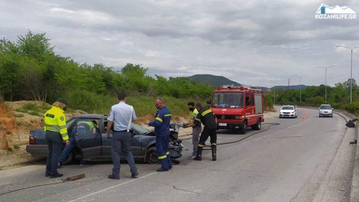 Τροχαίο ατύχημα στην Κοζάνη: Αυτοκίνητο τούμπαρε στην περιοχή του Lidl – Δείτε βίντεο
