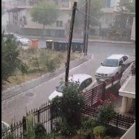 Χαλαζόπτωση το μεσημέρι της Δευτέρας στην πόλη της Κοζάνης – Δείτε το βίντεο