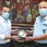 Επίσκεψη του Περιφερειακού Αστυνομικού Διευθυντή Δυτικής Μακεδονίας Θωμά Νέστορα στο Δήμαρχο Καστοριάς Γιάννη Κορεντσίδη