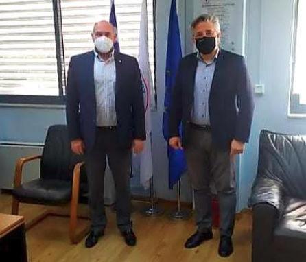 Επίσκεψη του προέδρου ΕΚΑΒ κ Νίκου Παπαευσταθίου  στο κτίριο του πρώην Δημαρχείου Ασκίου και εξαγγελία της ίδρυσης        τομέα ΕΚΑΒ και ΕΤΙΚ.