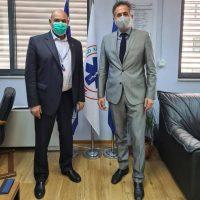 Συνάντηση του Στάθη Κωνσταντινίδη με τον Πρόεδρο του ΕΚΑΒ κ. Παπαευσταθίου