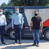 Νέο σάρωθρο στο στόλο οχημάτων του Δήμου Εορδαίας – Δωρεά του Διαδριατικού Αγωγού Φυσικού Αερίου ΤΑΡ