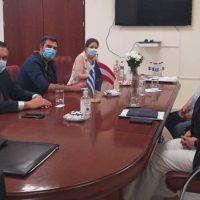 Συνάντηση του Περιφερειάρχη Δυτικής Μακεδονίας Γιώργου Κασαπίδη με την Πρέσβη της Αυστρίας στην Αθήνα Hermine Poppeler