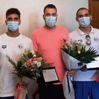 Τους αθλητές της Αθλητικής Κολυμβητικής Ακαδημίας Πτολεμαΐδας «ΔΕΛΦΙΝΙΑ» που διακρίθηκαν στο Παγκόσμιο πρωτάθλημα Τεχνικής Κολύμβησης τίμησε σήμερα ο Δήμαρχος Εορδαίας